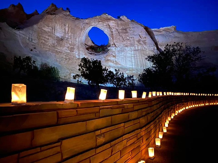 On March 17, the The Navajo Nation held a candle lit service honoring the more than 1,222 tribal members who lost their lives during the COVID-19 pandemic. (Photo/Office of the Navajo President)