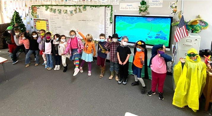 Ash Fork Elementary School students dress up to participate in Read Across America, a week-long event promoting literacy in schools. (Photos/Ash Fork Unified School District)