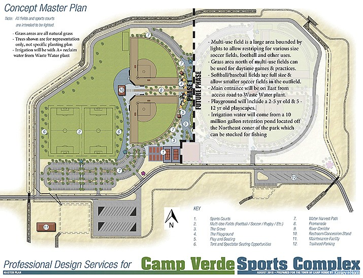 Wednesday, the Camp Verde Town Council will consider a grant agreement with the Nature Conservancy for $50,000 the town would use for the reuse water line at the Camp Verde Sports Complex. Courtesy photo