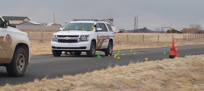 The Yavapai County Sheriff's Office was working to process the scene of a fatal shooting Monday night, March 22, 2021, in which Edward Kayer of Carefree - who was armed and considered dangerous - was killed by deputies after Kayer shot at them. (YCSO)