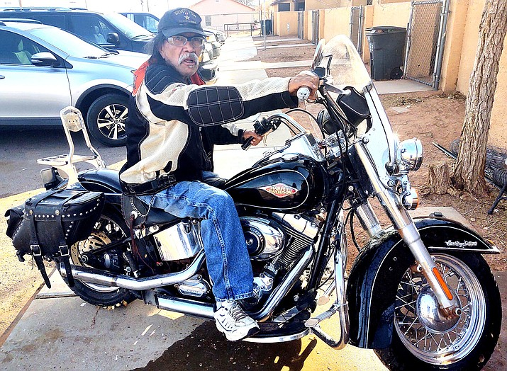 Andrew Kelly Jr. rides with the Navajo Hopi Honor Riders. He is from Tuba City, Arizona. (Photo/Navajo Hopi Honor Riders)