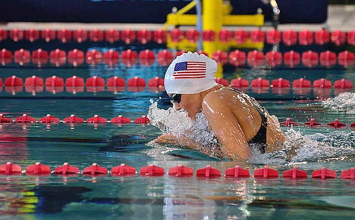 Sgt. 1st Class Elizabeth Marks of Prescott Valley is a combat medic but also a heavily decorated Paralympic swimmer, Pat Tillman Espy award winner, and a 2017 Army Woman's Hall of Fame inductee. She is a soldier-athlete in the U.S. Army World Class Athlete Program. (Courtesy photo)