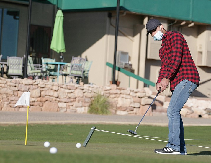 Camp Verde junior Bryce Seekins, pictured earlier this year at practice, shot a 49 in Thursday's nine-hole competition at Bagdad. VVN/Bill Helm
