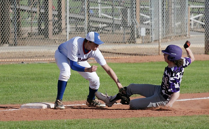 Trey Battise had three hits Monday for Camp Verde, and drove in two runs, in the Cowboys' 5-4 home win against Payson. Battise also tagged a runner out at third base in the fifth inning. VVN/Bill Helm