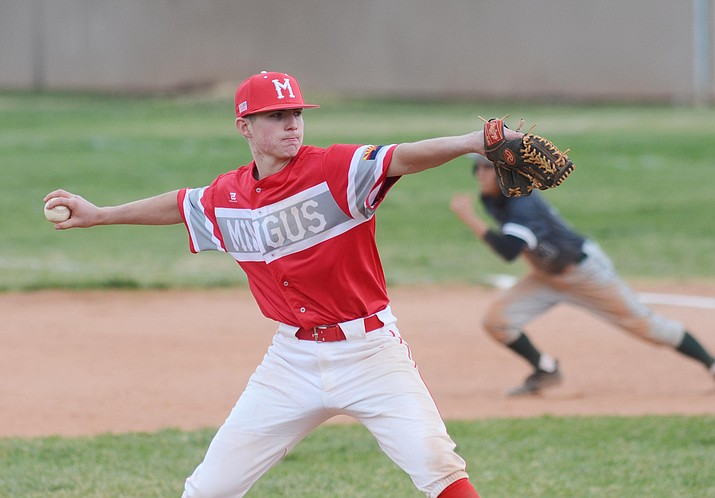Mingus Union High School split a double-header with Mohave High School at home on Thursday. VVN/Vyto Starinskas