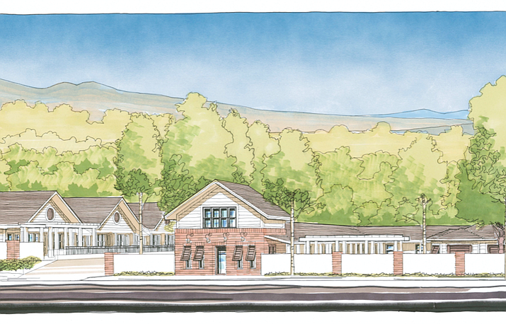 Beehive Life Village senior living community, as shown in this artist's rendering of the complex at 1113 E. Gurley St., plans to open its doors near downtown Prescott by the end of April, a news release announced in mid-March. (Beehive Life Village/Courtesy)