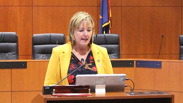 State Rep. Regina Cobb (R-Kingman) , shown in a file photo, says her bill signed into law last week by Arizona Gov. Doug Ducey, will make online dating safer in the state. (Miner file photo)