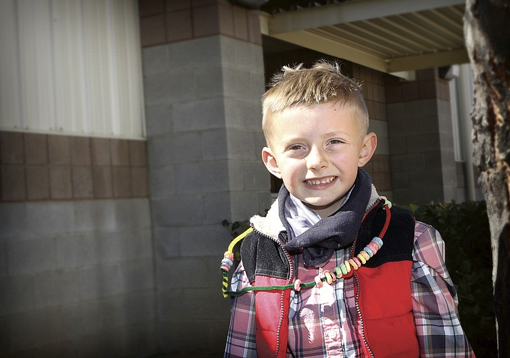 The Chino Valley Unified School District Student of the Week for April 1, 2021, is Wyatt Hartman of Territorial Early Childhood Center. (CVUSD)