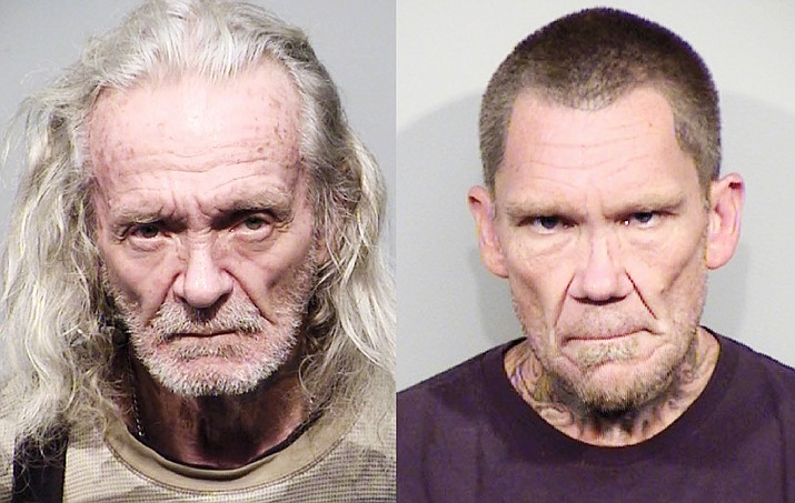 Pictured is Bruce Moore, 69, left, of Humboldt, and Dwight Elia, 50, of Dewey. On Friday, March 26, 2021, both men were found guilty of attempted first-degree murder. (YCSO/Courtesy)