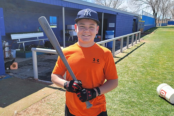 Rutger Funk was the winner of the 11-13 age group in the Chino Valley Baseball Booster Club's Home Run Derby, which took place on Saturday, March 27, 2021, at Chino Valley High School and was to help raise money for the Chino Valley baseball team. (Kristyne Schaaf-Olson/Courtesy)