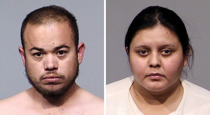 Roberto Guerrero, 27, of Tucson, left, was the driver, while 24-year-old Ana Razo-Villela, of Tucson, were charged with trafficking 52,000 fentanyl pills after a traffic stop on Interstate 17 led to the bust. (YCSO/Courtesy)