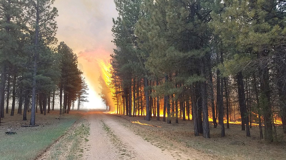 Extreme fire behavior is observed on the 2020 Mangum Fire.