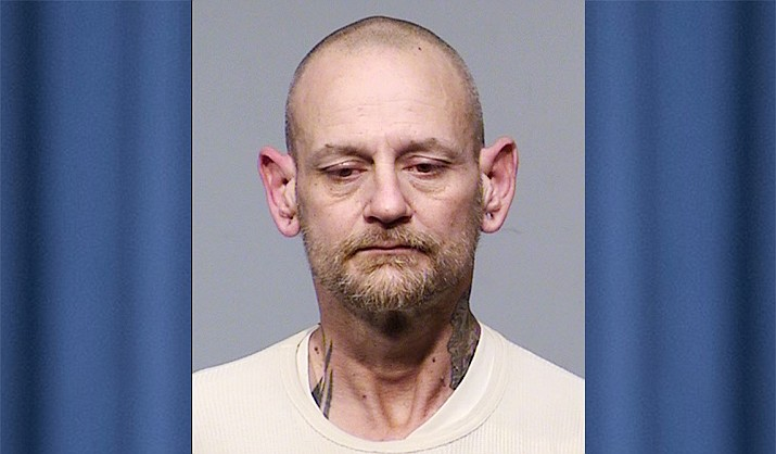 Roman Masciarelli, 42, of Santa Clara, California, was arrested Sunday, March 28, after he allegedly drove the wrong way on Highway 69 and nearly hit several other vehicles. He also had three stolen hand guns in his possession along with methamphetamines, Prescott Valley Police say. (PVPD/Courtesy)