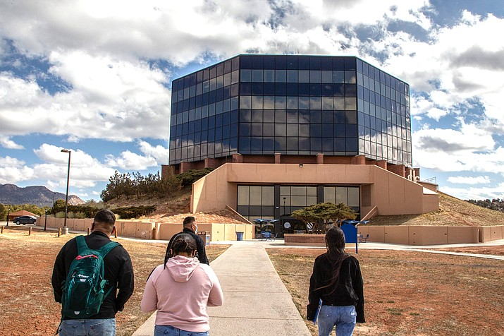 Diné College is choosing to look at the coronavirus pandemic as an opportunity rather than a hurdle, according to President Charles M. Roessel. He said students' attitudes reflect that as they recognize the importance of learning the Navajo culture, tradition and language. (Jeff Rosenfield/Cronkite News)