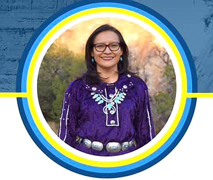 Navajo Nation First Lady Phefelia Nez spoke to Diné College students about holistic health and healing March 23. (Photo/OPVP)