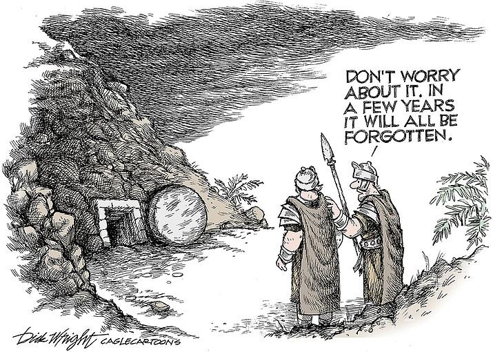Editorial cartoon (2): April 1, 2021