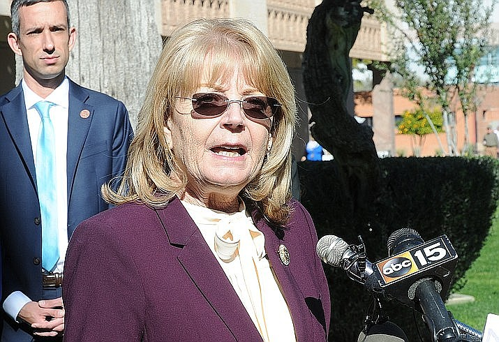 Senate President Karen Fann said she doesn't see an issue with hiring Cyber Ninjas, a Florida firm founded by Doug Logan, to help lead a team that will audit the 2020 Maricopa County elections. Logan reportedly wrote messages and retweeted claims that linked him to some of the conspiracy theories that the election was stolen. (Capitol Media Services file photo / Howard Fischer)