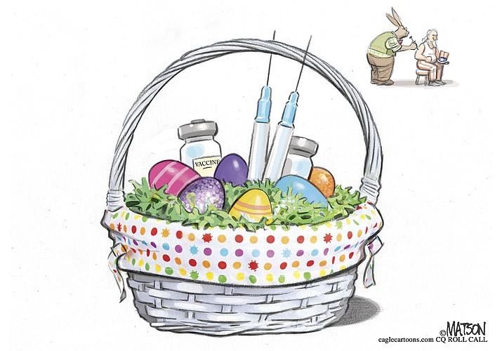 Editorial cartoon (2): April 3, 2021