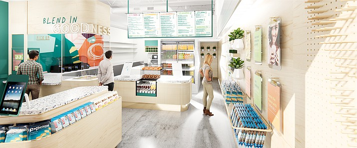 An in-store view of a Jamba location. This summer, a Jamba and Cinnabon store will move into Suite A at the Depot Marketplace, 351 N. Montezuma St., in Prescott. (Focus Brands/Courtesy)
