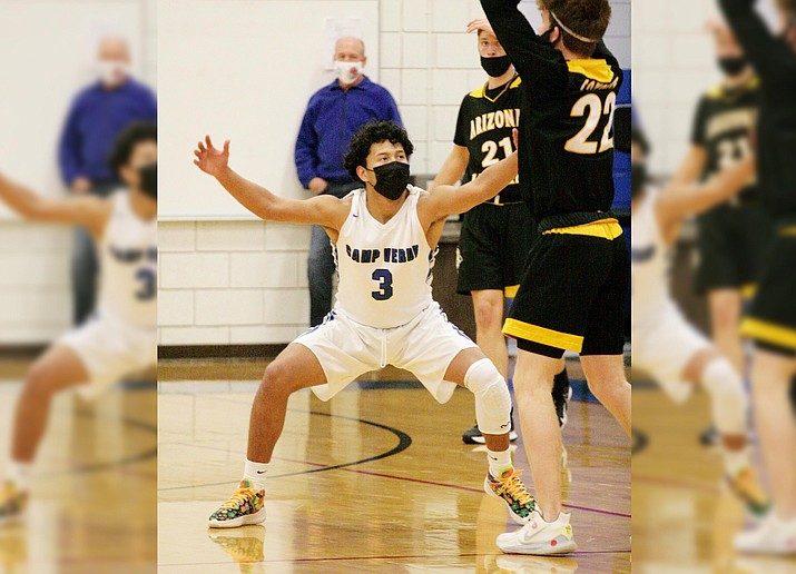 Camp Verde junior guard Chino Salas Zorilla (No. 3) is the 3A North Central region's offensive player of the year for 2020-2021. VVN/Bill Helm