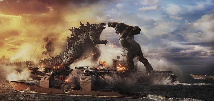 "A scene from ""Godzilla vs. Kong."" (Warner Bros. Entertainment via AP)"