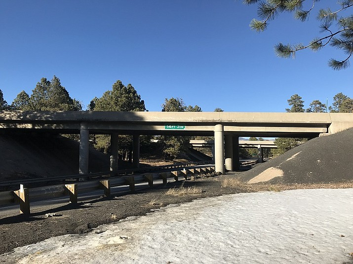 ADOT has already started projects to replace the Interstate 40 bridges over Business 40 which connects to Historic Route 66 in west Flagstaff. (photo/ADOT)