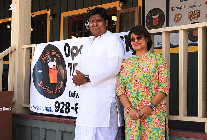 Sudipto Ballav and Chaitali Bose opened Hunger Square, an Indian restaurant in Williams April 2. Hunger Square is located in the Pine Mountain Plaza on South Ninth Street. (Wendy Howell/WGCN)
