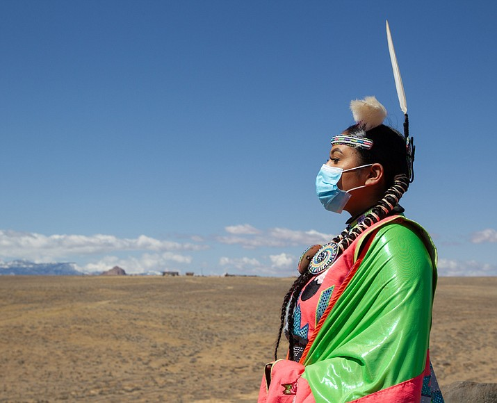 Like other Indigenous storytellers on RezTok, 19-year-old Diné storyteller Yang often shares stories and personal histories that don't show up in textbooks. Yang uses her TikTok platform of more than 32,000 followers to bring awareness and create space for sharing her tribe's culture and traditions. (Jeff Rosenfield/Cronkite News)