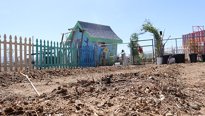 After a one-year hiatus due to the coronavirus, the Children's Garden at Dig It Kingman Community Gardens is ready to be sown. (Photo by Travis Rains/Kingman Miner)