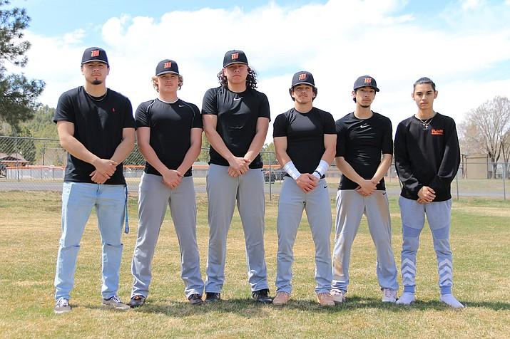 The Vikings baseball team is led by seniors (clockwise from top left) Luis Lara, Cody Jensen, Ceasar Santana, Zain Grantham, Luis Urias and Raul Velazquez. (Wendy Howell/WGCN)