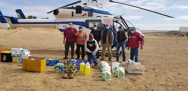Efforts to supply Navajo veterans with essential supplies were coordinated by the Native American Sustainability for Veterans and Those in Uniform. (Photo courtesy of Native American Sustainability for Veterans and Those in Uniform)
