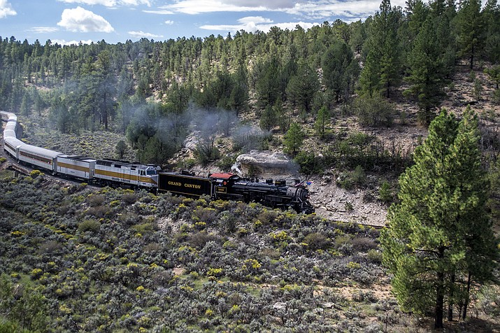 Grand Canyon Railway's first steam locomotive of 2021 made its journey from Williams to the Grand Canyon April 3. (Photo/Grand Canyon Railway)