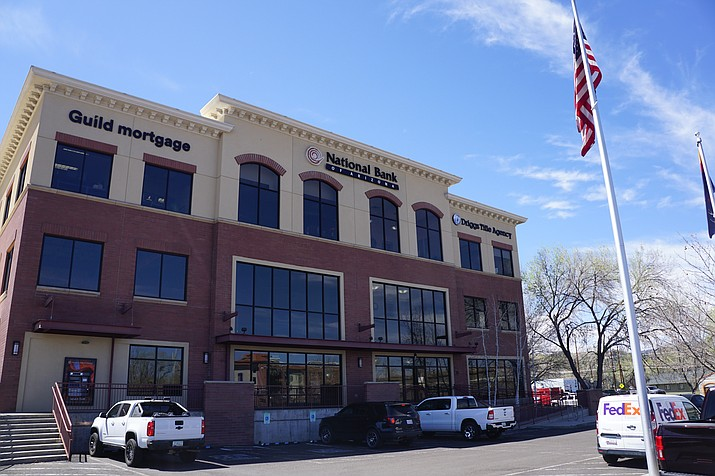 The City of Prescott is considering purchasing the National Bank of Arizona building located in downtown Prescott at Montezuma and Sheldon streets to serve as a new location for Prescott City Hall. The City Council is expected to discuss the matter at its Tuesday, April 13, 2021, voting meeting. (Cindy Barks/Courier)