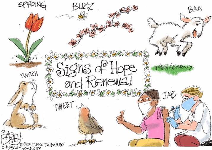 Editorial cartoon (2): April 8, 2021