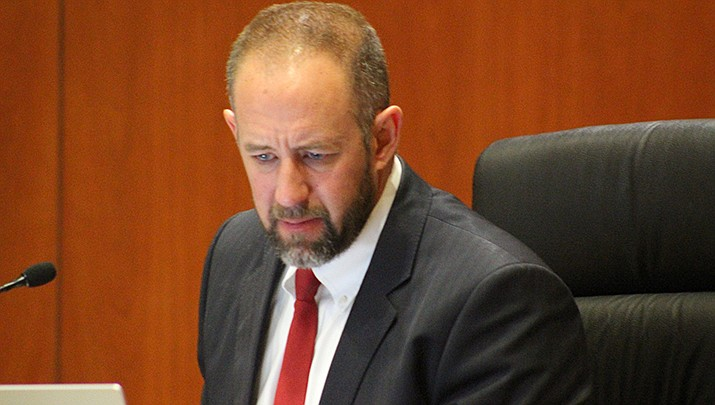 Moyhave County Supervisor Travis Lingenfelter's proposal to divide money from the American Rescue Plan between the county's five supervisory districts was approved 4-1 by the board on Monday, April 5. (Photo by Agata Popeda/Kingman Miner)