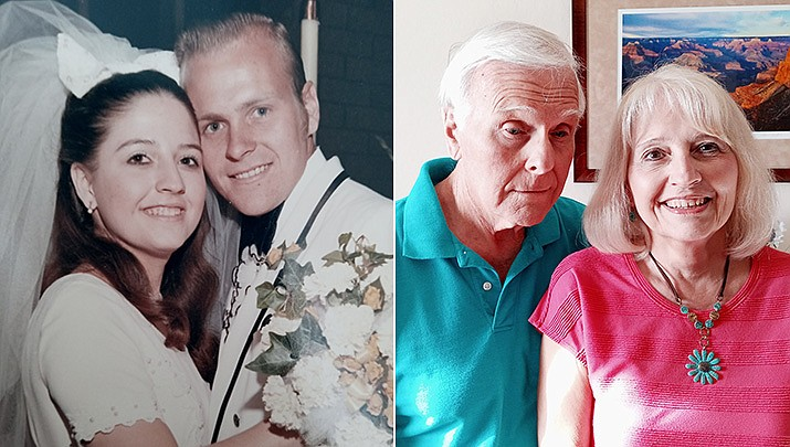 Tom and Carol Ann Liaboe (Bussey) were married at St. Olaf Lutheran Church in Garden Grove, California, on April 17, 1971; pictured then, left, and now. (Courtesy photos)