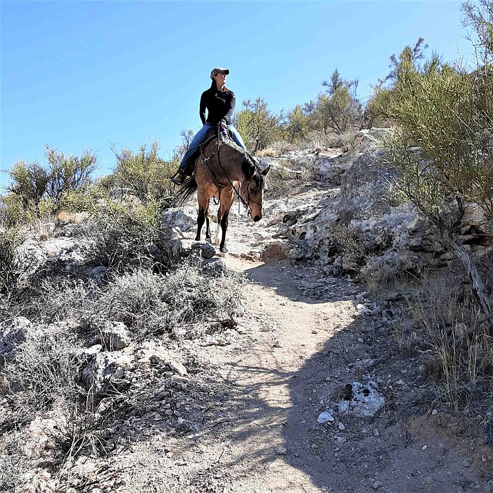 Camp Verde's 5.5-mile Verde Vista Loop Trail climbs roughly 500 feet to the top of the White Hills and overlooks the town's sports complex and equestrian center. Courtesy Town of Camp Verde