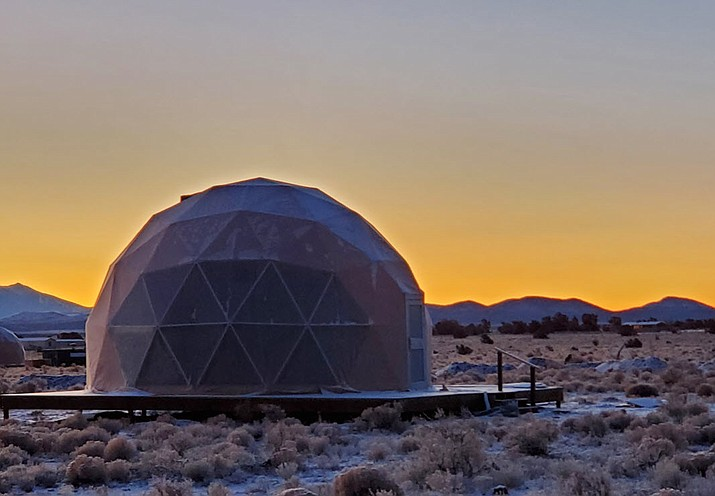 Clear Sky Resort will open May 28 near Valle, Arizona, with 40-dome shaped rooms. The resort will feature live music, a food truck, a nine-hole Frisbee golf, an adult trike truck, bounce pad, playground and more. (Photo/Clear Sky Resort)