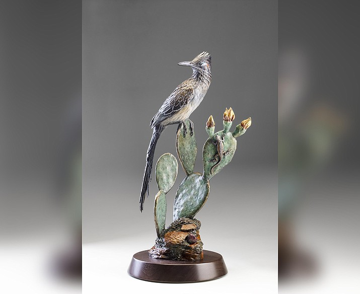 "Oblivious bronze sculpture, by Kim Kori, limited edition of 40, 24""H x 11.5""W x 8.5""D"