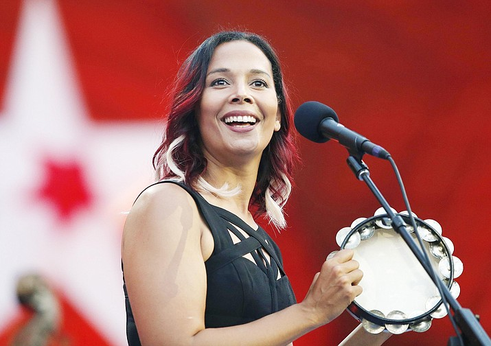 """Rhiannon Giddens' new album, """"They're Calling Me Home,"""" releases on Friday, April 16. (AP Photo/Michael Dwyer, File)"""