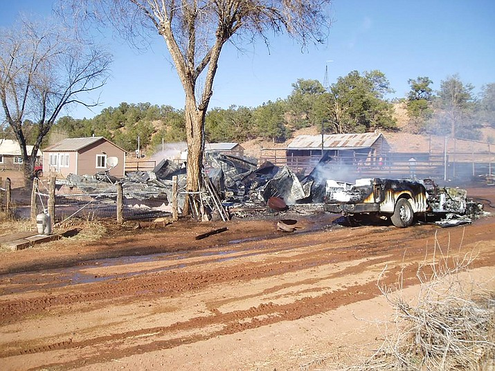 An investigation into a fire and explosion that claimed the life of one person April 10 at the Boquillas Ranch, located north west of Seligman is currently being conducted by Coconino County Sheriff's Office. (Photo/Coconino County Sheriff's Office)