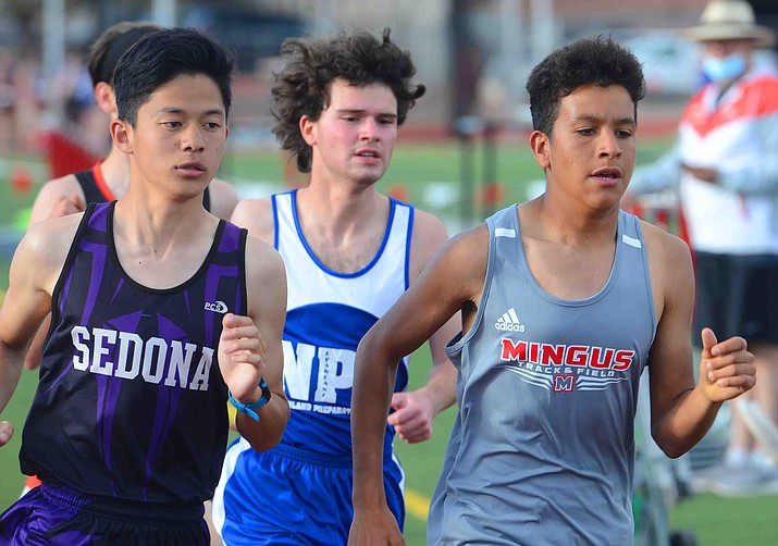 Sedona's standout distance runner Shota Yabuuchi (left) and Mingus sophomore Cesar Diaz  have both qualified for the Arizona state track and field championships in May in the 800-, 1600- and 3200-meter events. VVN/Vyto Starinskas