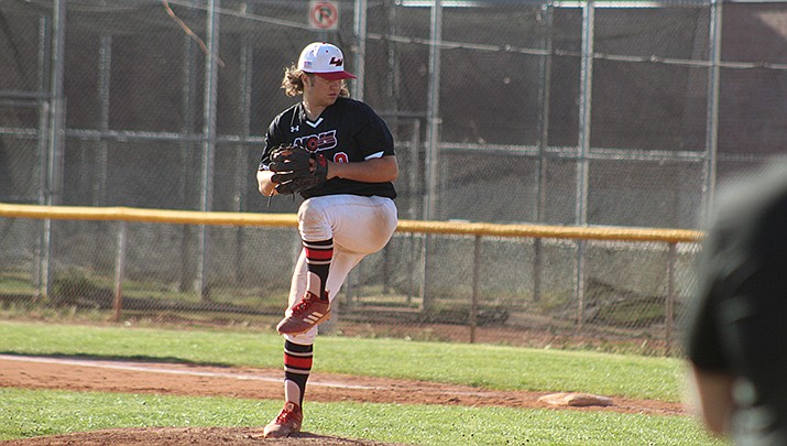 Lee Williams lost 7-5 to Coconino in a high school baseball game in Flagstaff on Thursday, April 15. (Photo by Casey Jones/Kingman Miner)