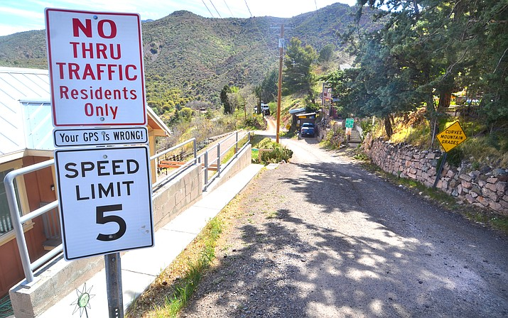 The Jerome Council is concerned photos of the Gulch Road posted on YouTube of an upcoming ultramarathon race will bring more tourists to the picturesque mountain community. VVN/Vyto Starinskas