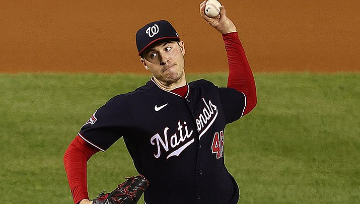 The Arizona Diamondbacks beat up on Washington Nationals pitcher Patrick Corbin en route to an 11-6 win in a Major League Baseball game on Thursday, April 15. (Photo by All-Pro Reels, cc-by-sa-2.0, https://bit.ly/3adkWyj)
