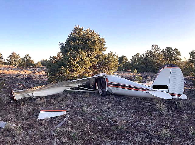 A plane carrying two people crashed near Williams airport April 18. The two occupants died in the crash and were recovered by Williams Fire Department personnel. (Photo/CCSO)