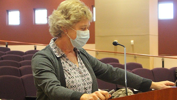Denise Burley, Mohave County public health director, told the county board of supervisors that the county is showing progress in getting residents vaccinated against the coronavirus. (Miner file photo)