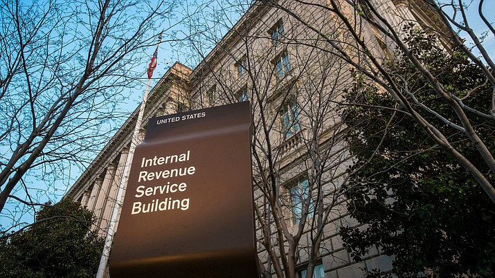Pictured is the Internal Revenue Service (IRS) headquarters building in Washington. (J. David Ake, Associated Press, file)