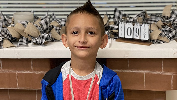 Liam from Lake Valley Elementary School is this week's Humboldt Unified School District Student of the Week. (HUSD)
