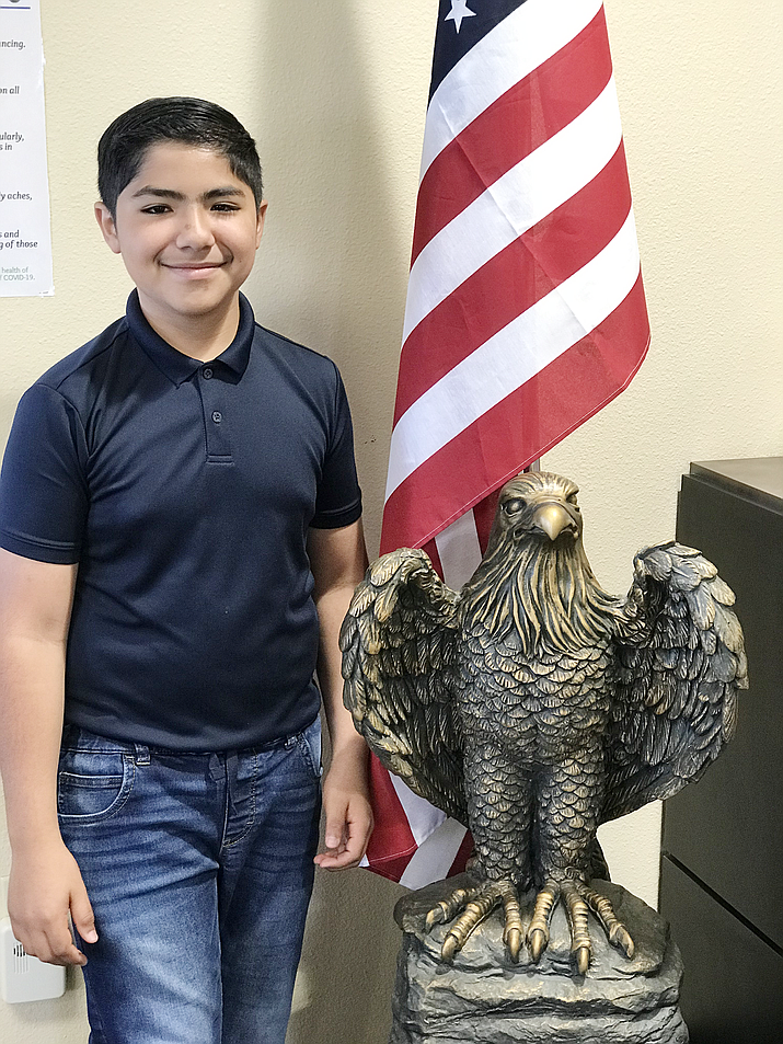 Marcos from Liberty Traditional School is this week's HUSD Student of the Week. (Courtesy)